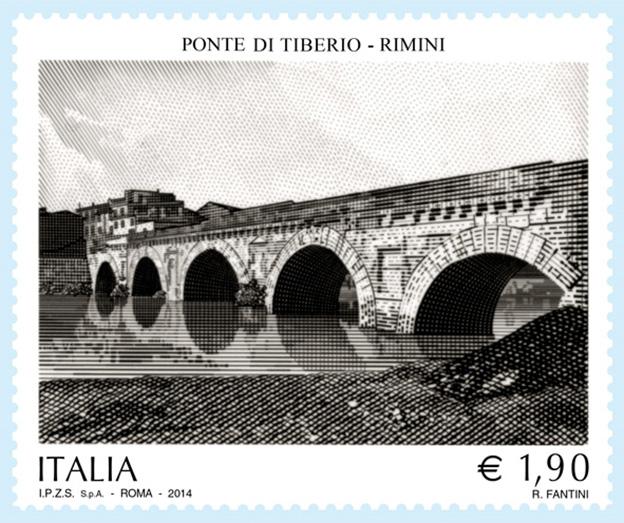 Un francobollo per il bimillenario del Ponte di Tiberio