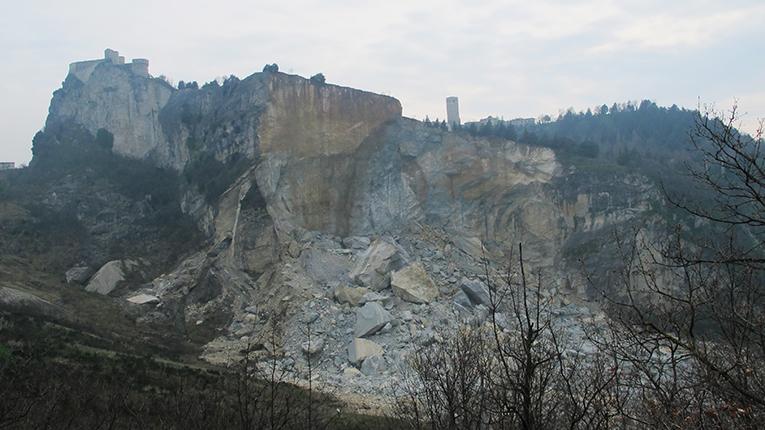 A un anno dalla frana i geologi italiani si danno appuntamento a San Leo
