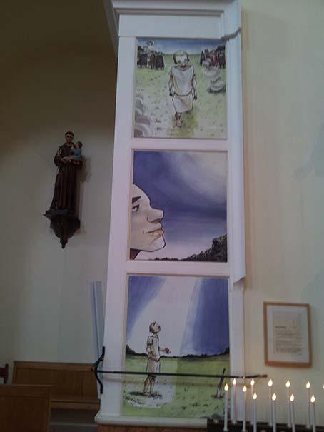 Il fumetto sugli altari: la chiesa di Rimini sfida i canoni dell'arte sacra