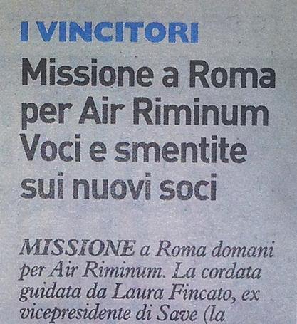Sui soci riminesi di Air Riminum