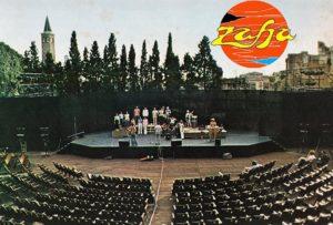Al Teatro Romano di Verona (durante le prove) nel 1978