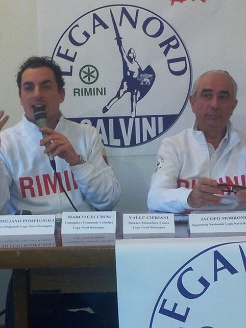 La Lega Nord presenta Pecci ma spera in Salvini (che arriva a marzo)