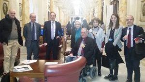 I partecipanti all'incontro col sottosegretario Rughetti
