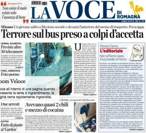 """Messa all'asta la testata """"La Voce di Romagna"""""""