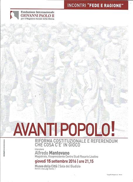 A Rimini il magistrato Alfredo Mantovano sulla riforma costituzionale