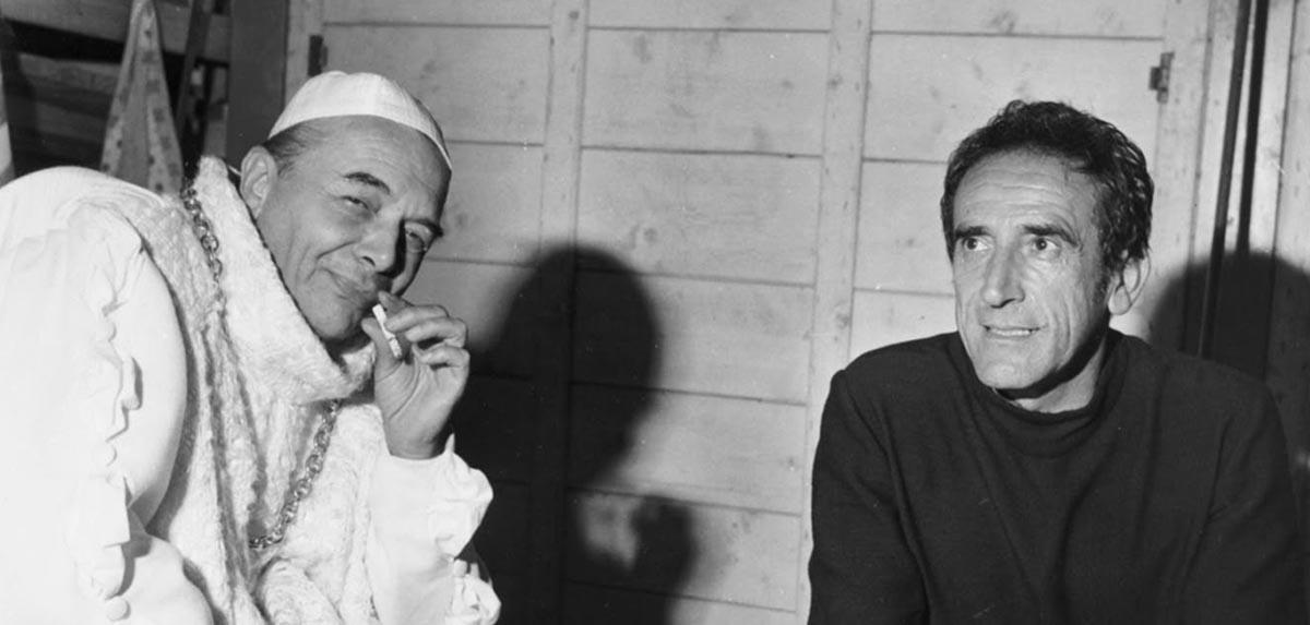 Arnoldo Foà, Jean-Louis Barrault e il ridicolo dell'epoca presente