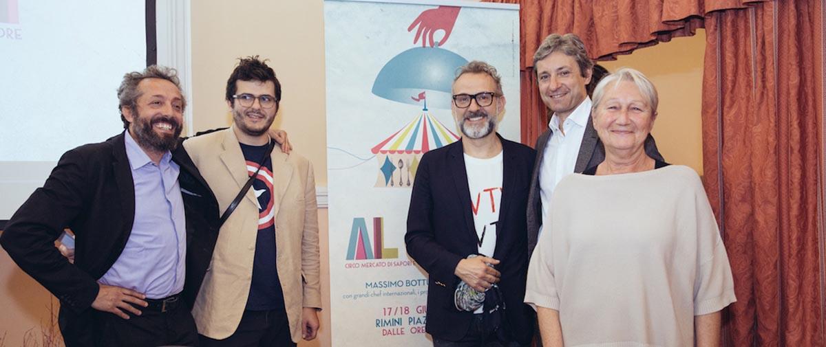 """Bottura e i grandi chef nel circo di """"Al Mèni"""""""