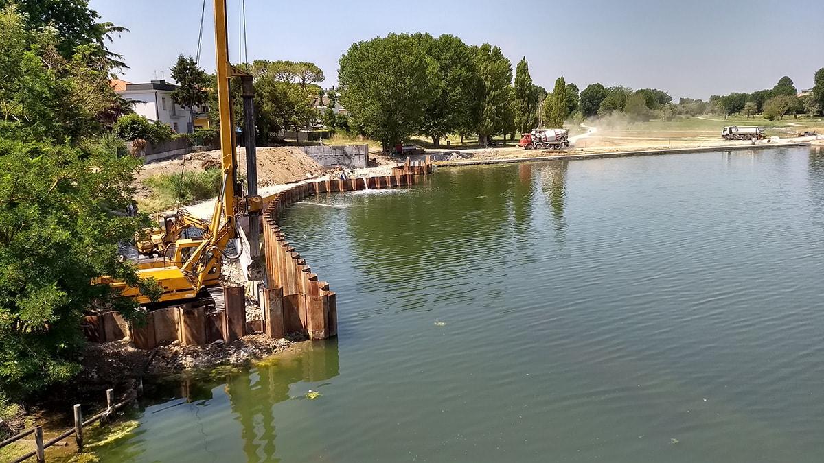 ponte tiberio per la passerella galleggiante serve un