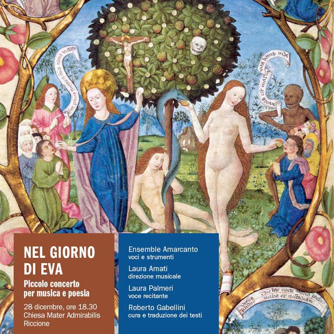 """A Riccione l'Ensemble Amarcanto propone """"nel giorno di Eva"""""""