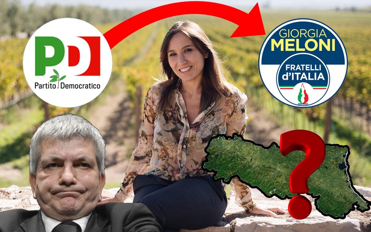 Paracadutati: la capolista di Fratelli d'Italia in Romagna è stata candidata nel Pd per sostenere Vendola in Puglia