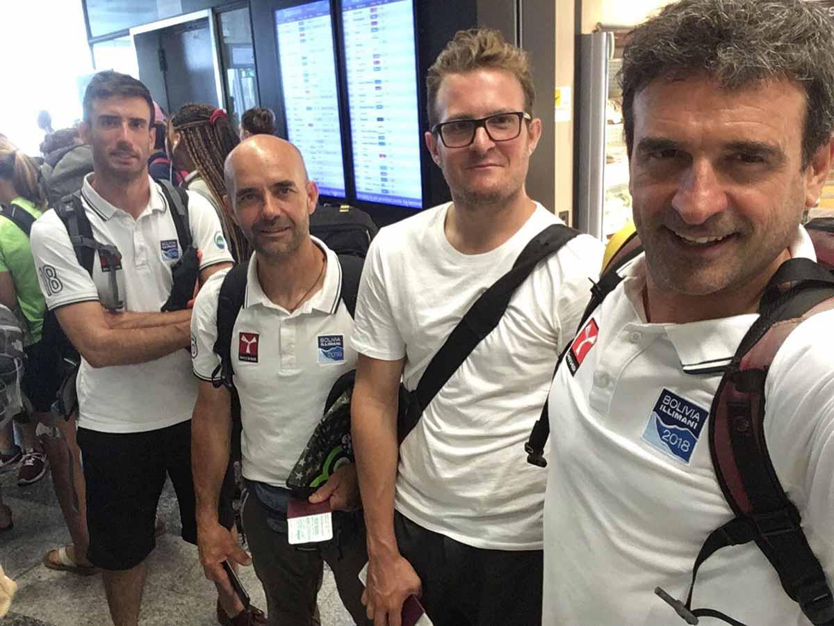 E' partita l'avventura dei tre alpinisti del Cai di Rimini