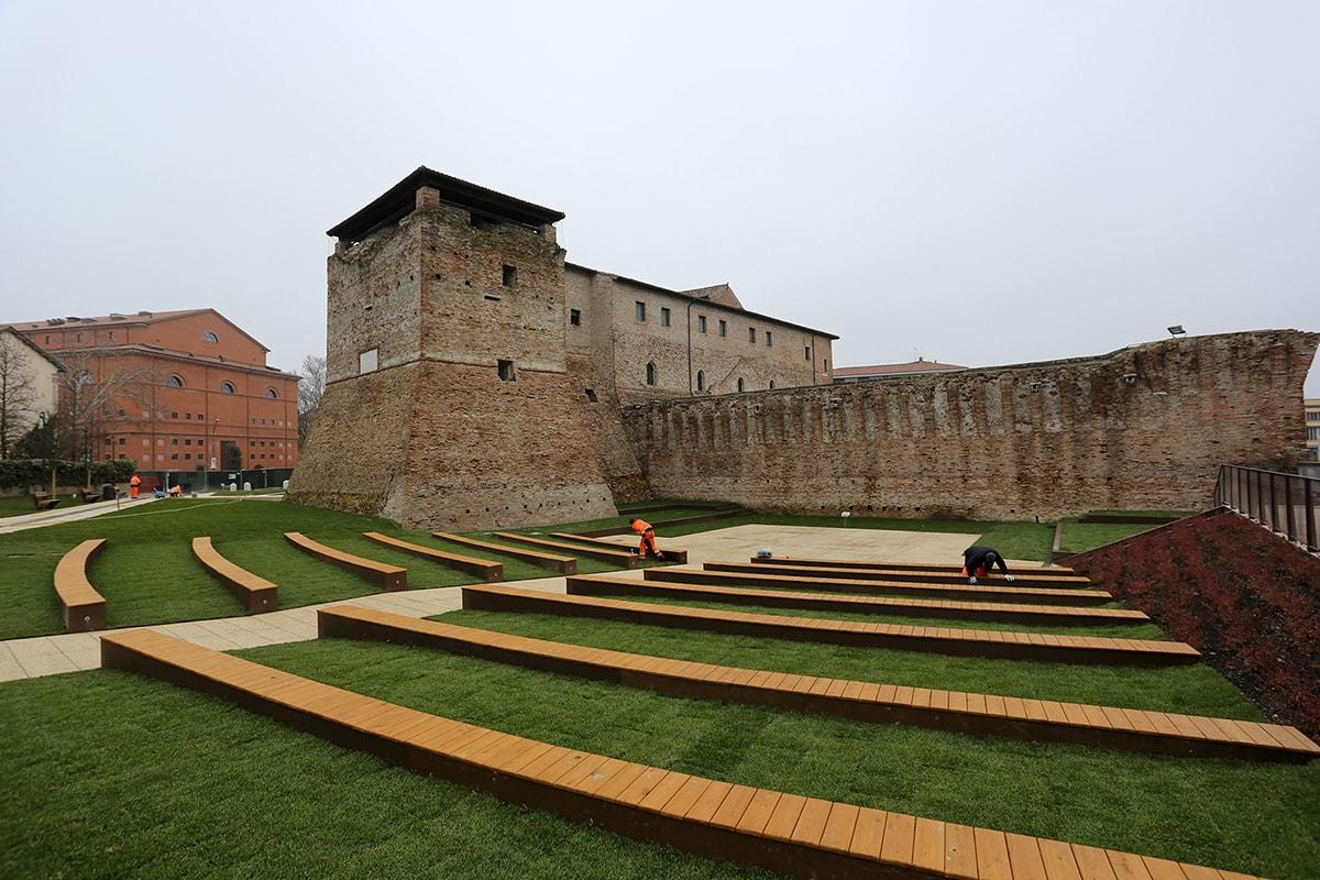 Apre il giardino di Castel Sismondo