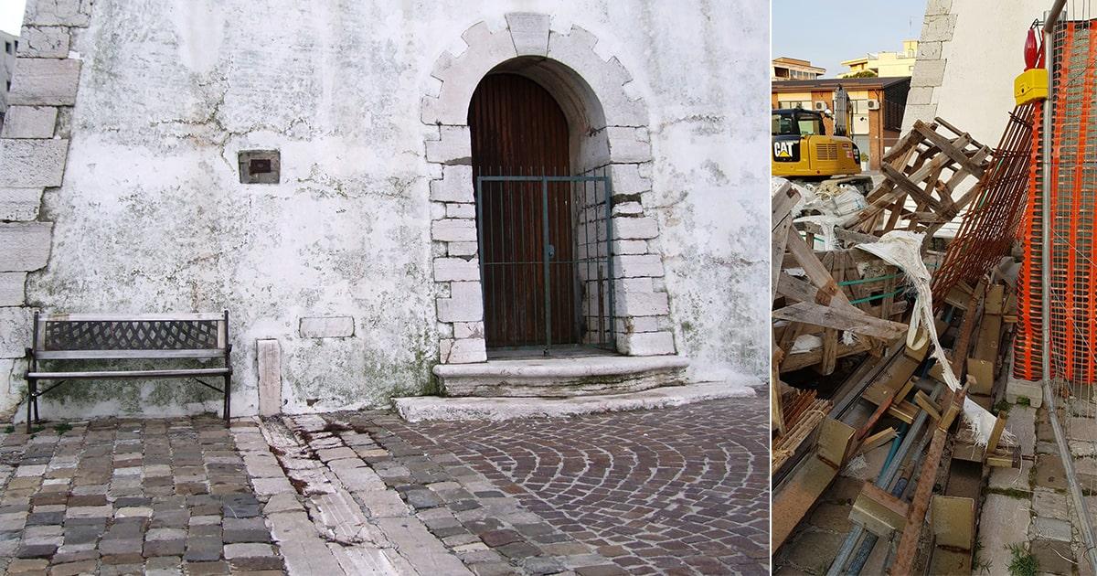 I lavori al Faro danno il colpo di grazia all'antico idrometro