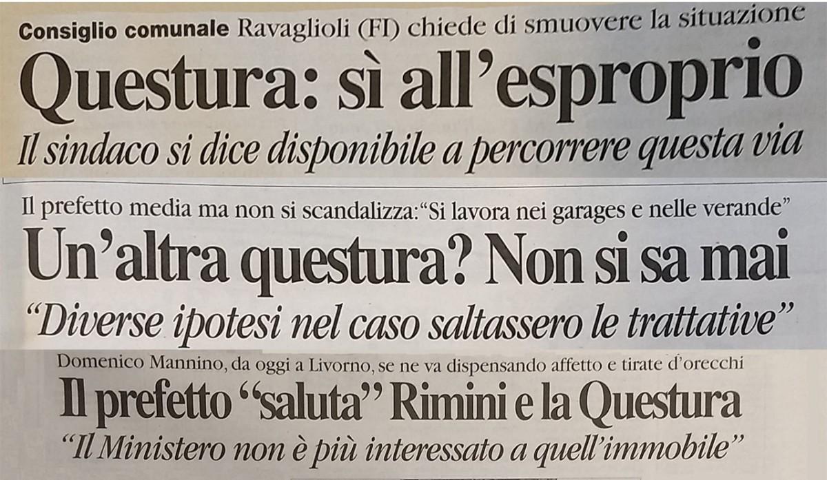 """Quando il sindaco Ravaioli diceva """"sì all'esproprio della nuova questura"""""""