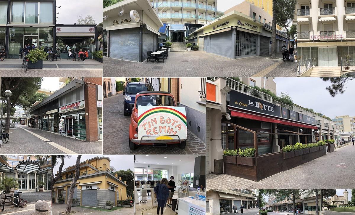 Ripartenza lenta: fotografie dalla Rimini che ci prova e che resta chiusa