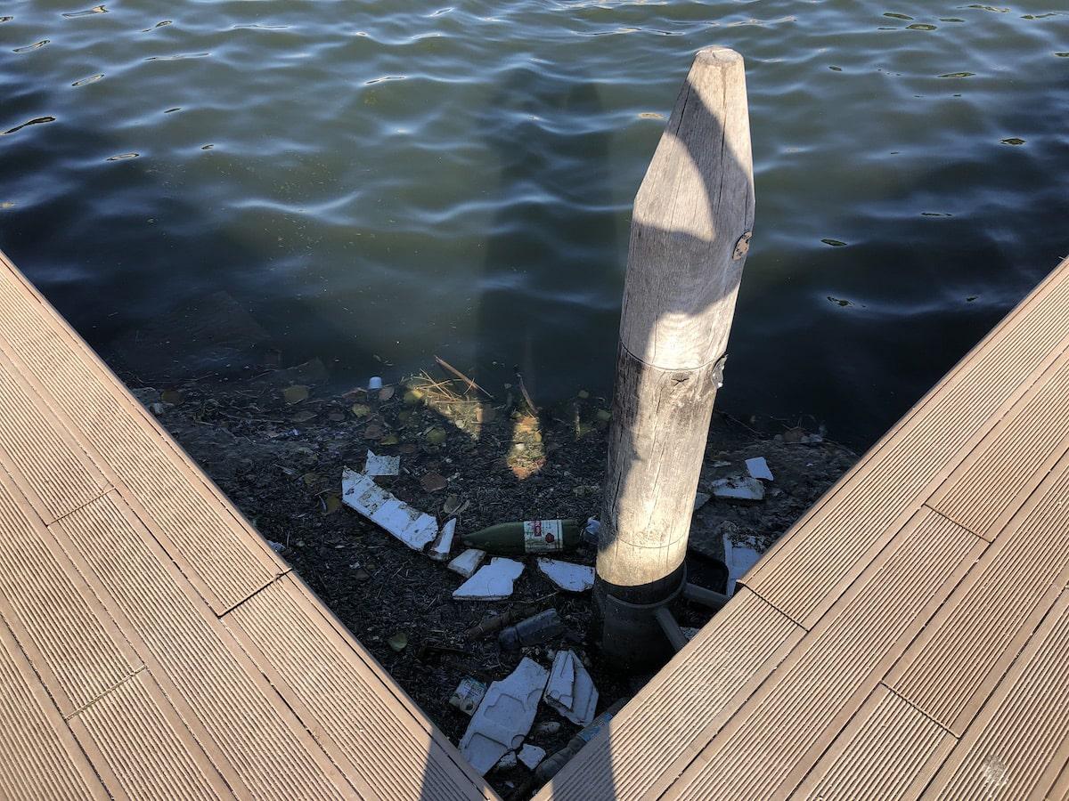 Invaso del ponte di Tiberio e dintorni: qualcosa galleggia, qualcuno traffica