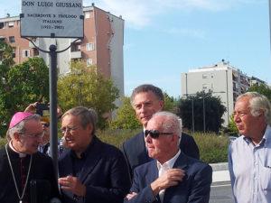 Mons. Lambiasi con gli ex sindaci di Rimini Giuseppe Chicchi, Marco Moretti, Zeno Zaffagnini e Massimo Conti