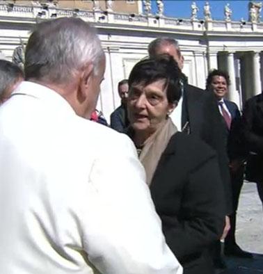 """Oggi l'invito di Emilia Smurro al Papa: """"L'aspettiamo a Rimini al Meeting"""""""