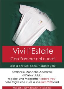"""""""I adore you"""". Le monache dell'Adorazione Eucaristica s'intendono anche di marketing: acquistando la loro maglietta si può contribuire a sostenerle"""