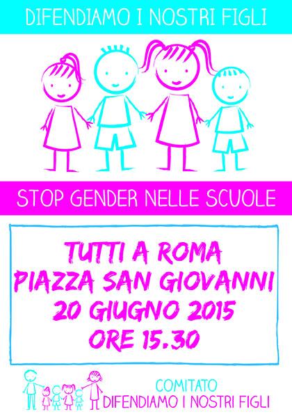 """Manifestazione """"no gender"""", molte famiglie anche da Rimini ma fa discutere la defezione di movimenti e diocesi"""