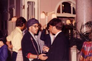 Roberto D'Agostino e Moreno Neri alla serata al Grand Hotel