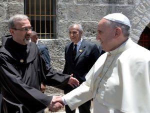 Padre Pizzaballa con papa Francesco