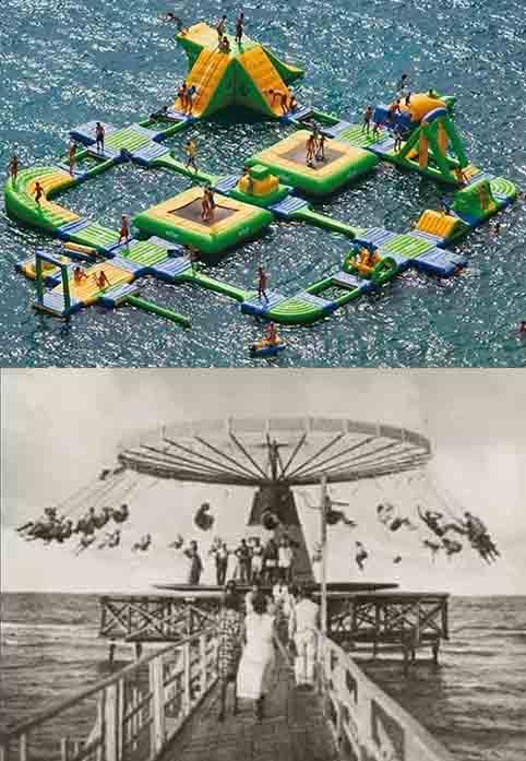 Il declino della Riviera è scritto anche sul mare: dalle piattaforme ai gonfiabili