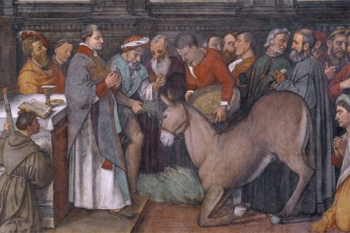 Come sarà che Sant'Antonio, arrivato a Rimini, si è messo a predicare agli asini?