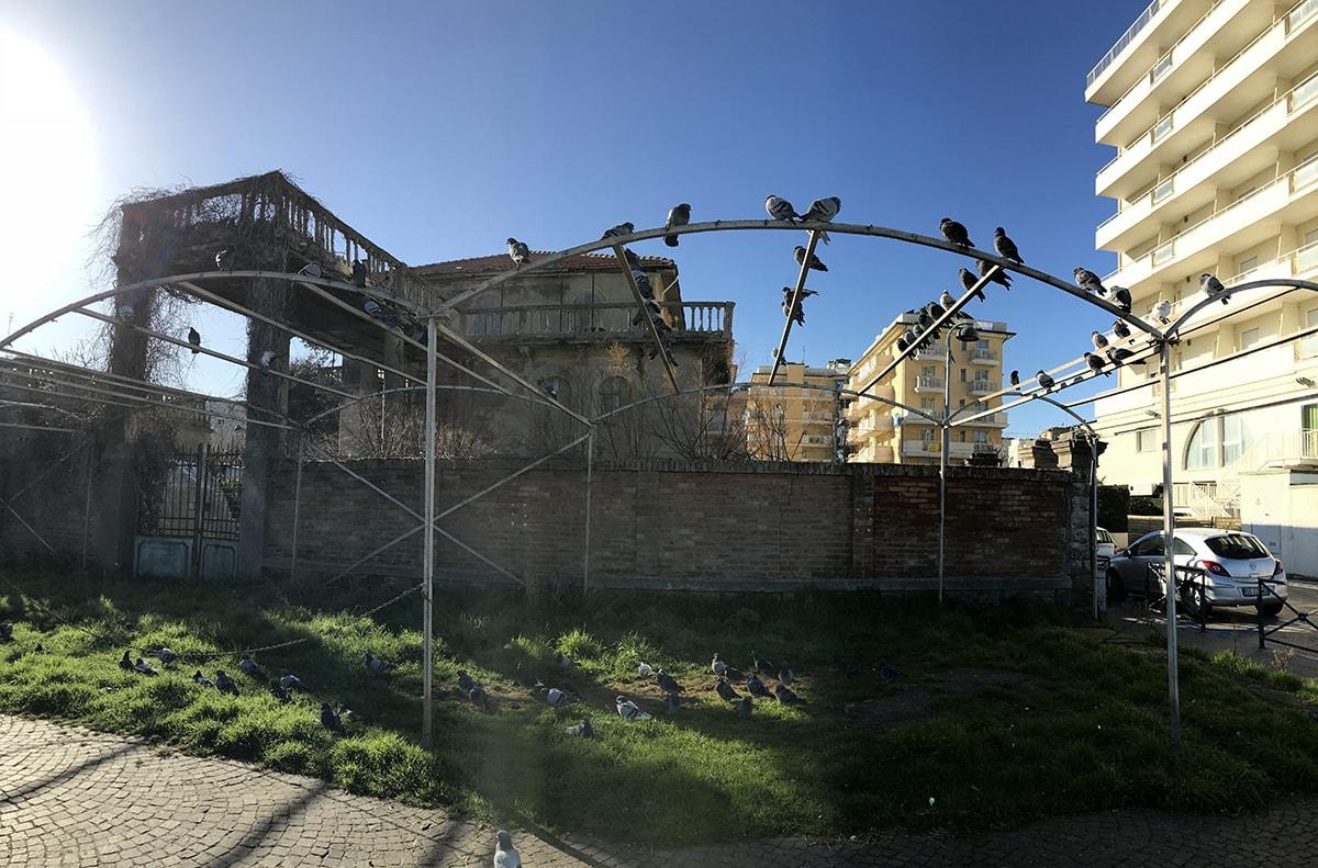 "Villa Haydée ""okkupata"" dai piccioni"