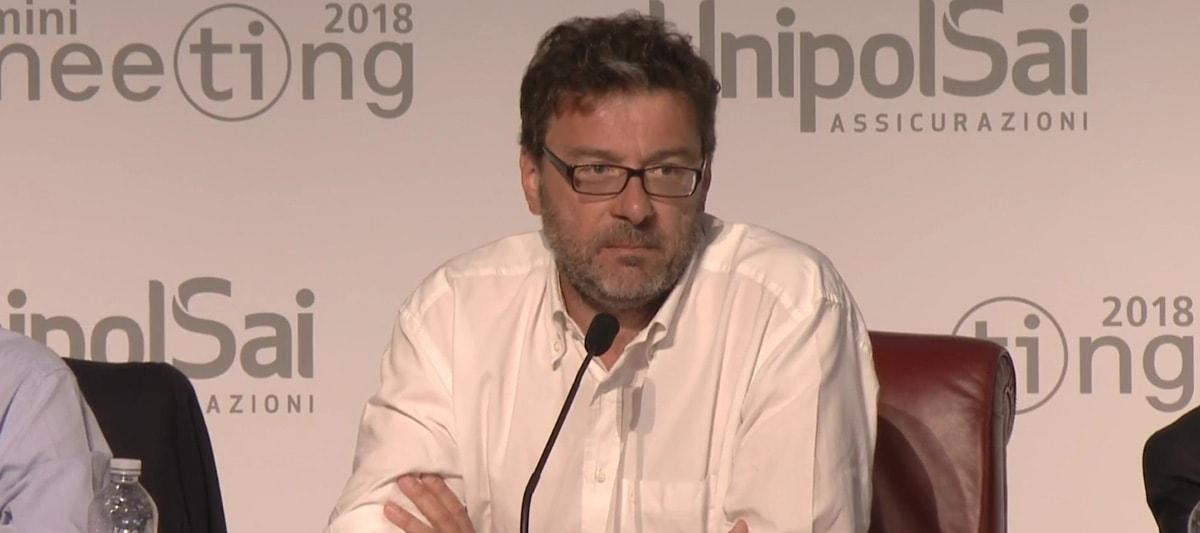 """""""Populisti siete voi"""": il sottosegretario Giorgetti spiazza il Meeting"""
