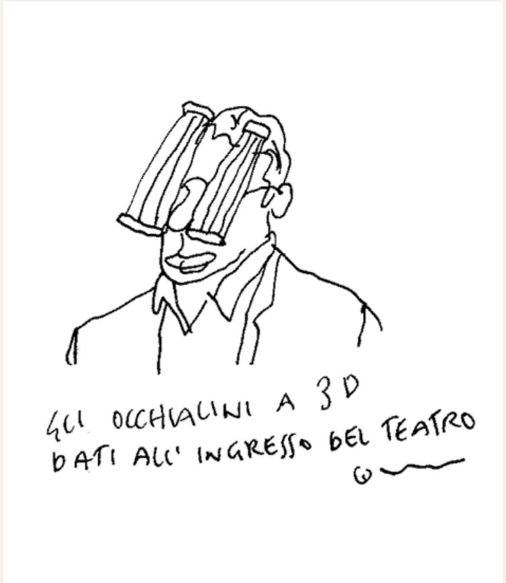 Addio a Vincino, nelle sue vignette anche il teatro Galli