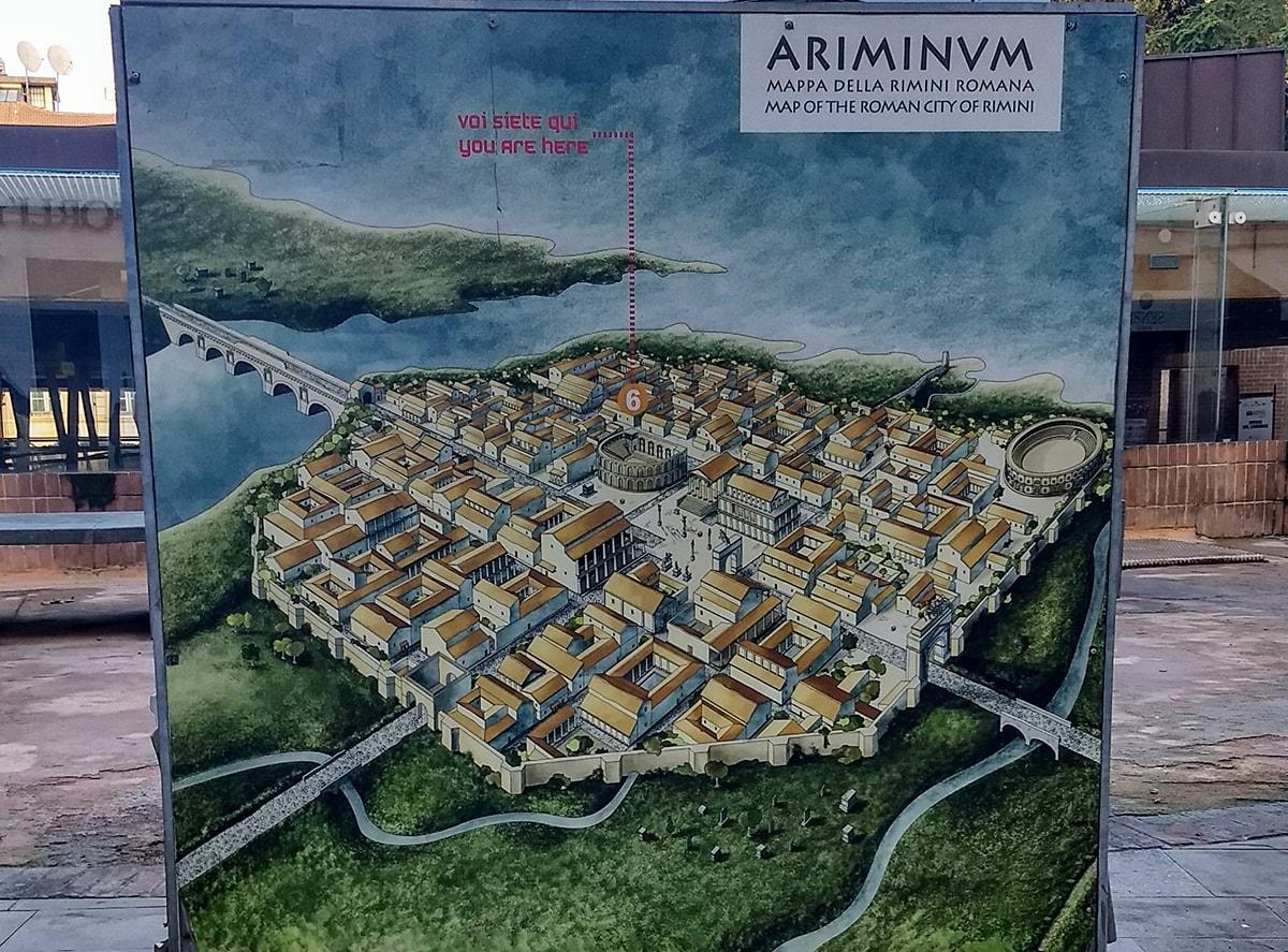 """Nella mappa della Rimini romana c'infilano anche l'Anfiteatro """"integro"""" e ripulito del Ceis"""
