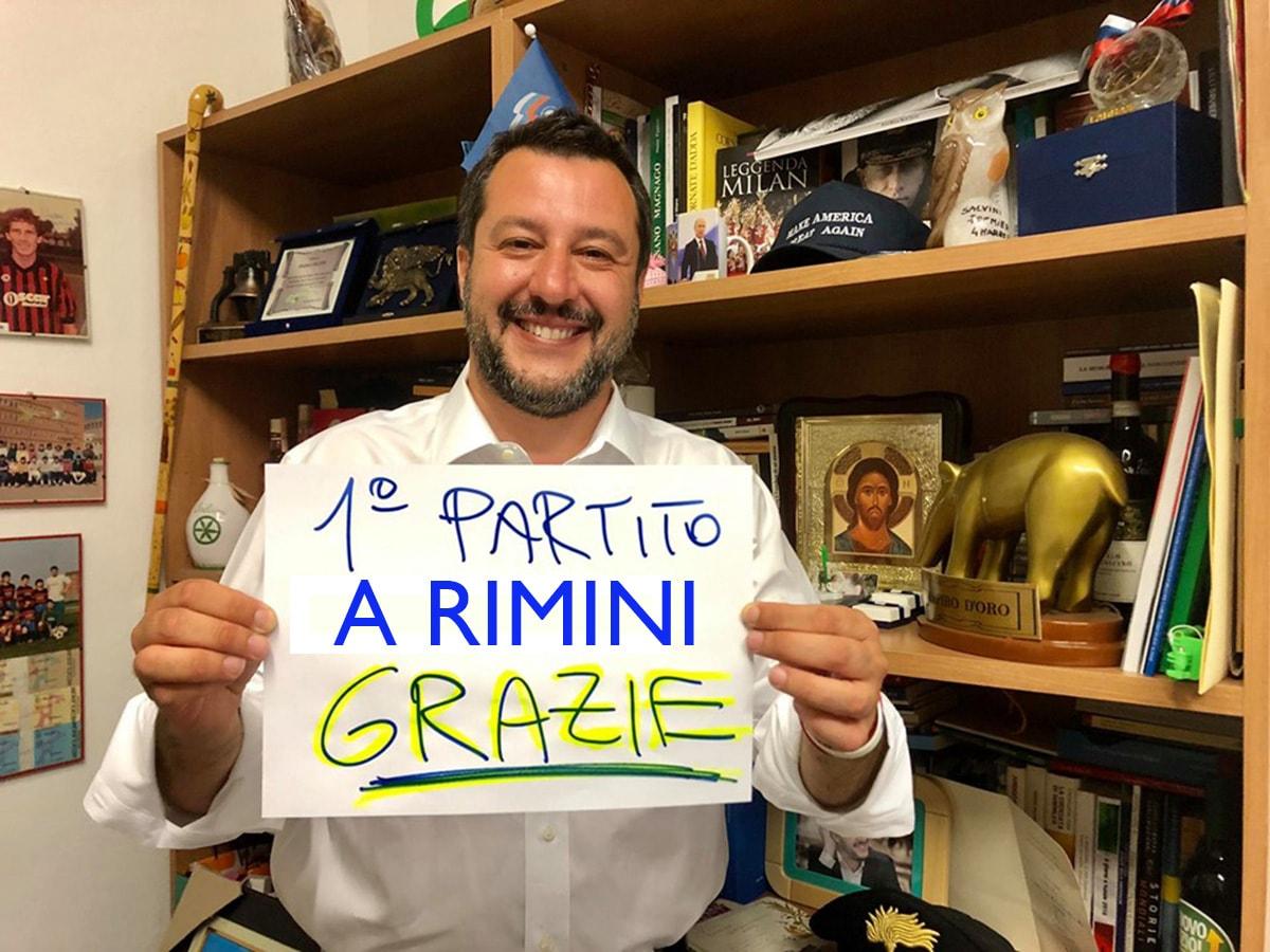 Europee, Lega a valanga: 36% in provincia di Rimini, il Pd perde il 20%, 5 Stelle meno 10%