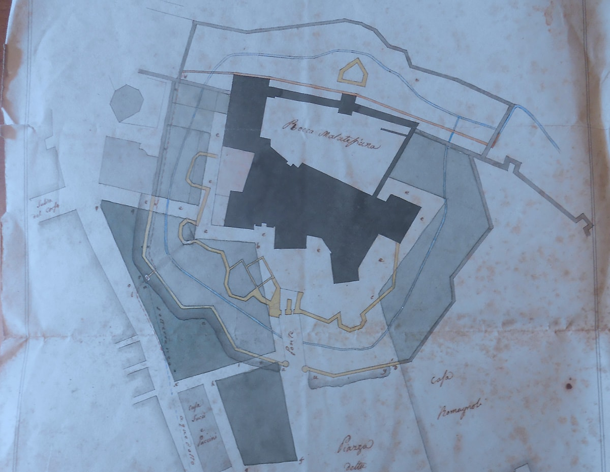 Un progetto del 1827 per lottizzare piazza Malatesta