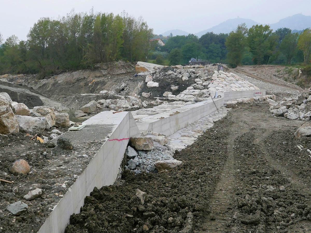 Ponte Verucchio: un altro milione di euro per rimediare al crollo della briglia
