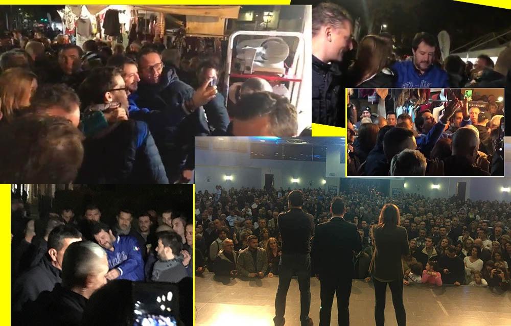 Salvini a Santarcangelo: e fortuna che gli intolleranti stanno a destra!