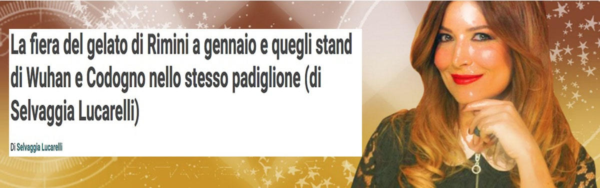"Selvaggia Lucarelli crea un ""link"" fra coronavirus e Sigep"