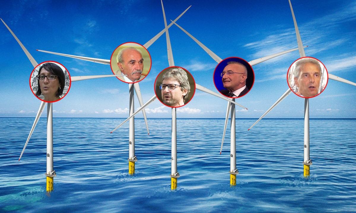 I padri politici del parco eolico offshore in acque riminesi