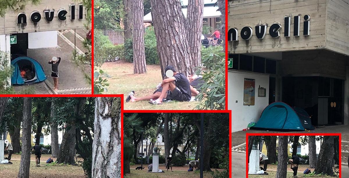 Controlli antidegrado della polizia municipale a Rimini sud mentre Marina centro se la passa peggio