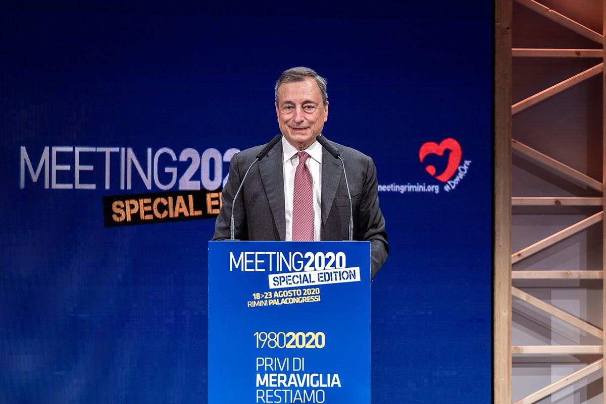 Su Mario Draghi e il palco d'onore che Cl gli ha offerto al Meeting