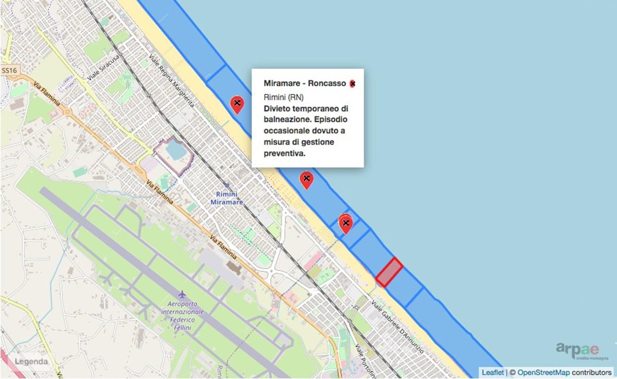 Cartina Riviera Romagnola.Ci Risiamo Otto Zone Vietate Alla Balneazione A Rimini Riminiduepuntozero