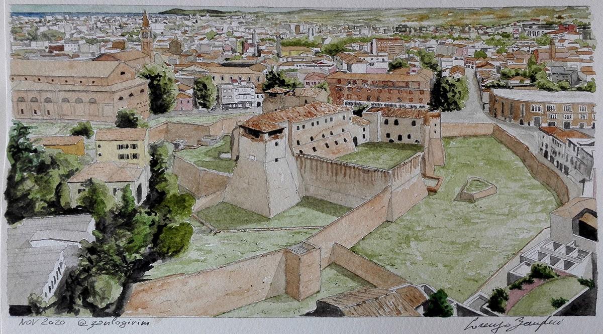 """Il fascino di Castel Sismondo """"tutto intero"""" col suo fossato"""