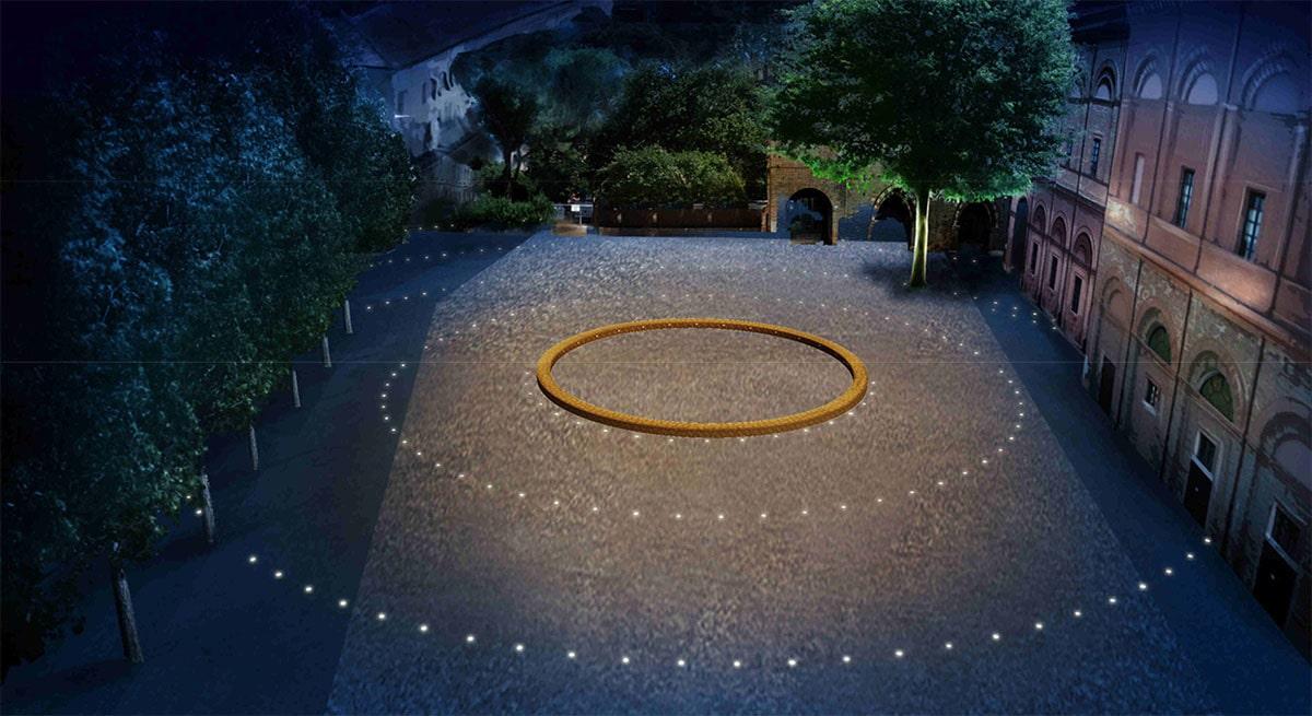 Cerchi luminosi in piazza Malatesta: conto da 232mila euro più 10mila all'anno di spese fisse
