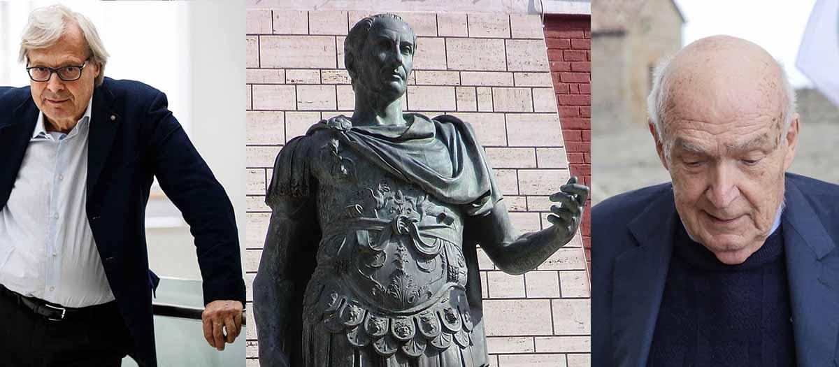 «No al secondo esilio della statua di Cesare»: appello  ai riminesi, a Sgarbi e Paolucci