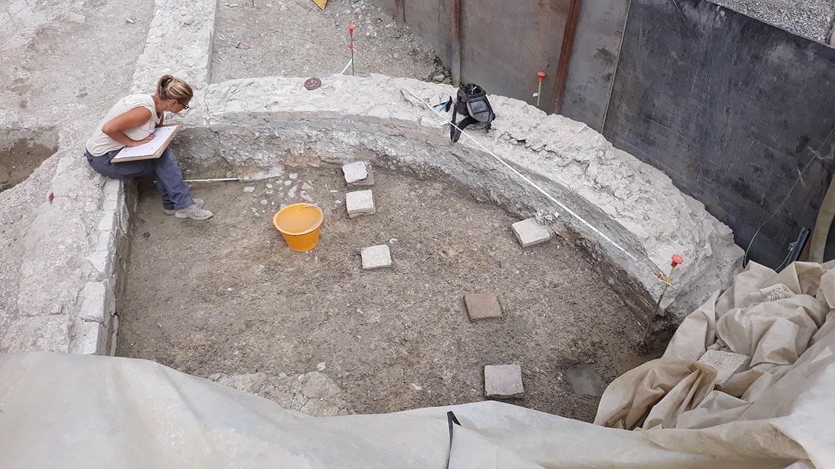 Verso la fine lavori per lo scavo archeologico di via Melozzo